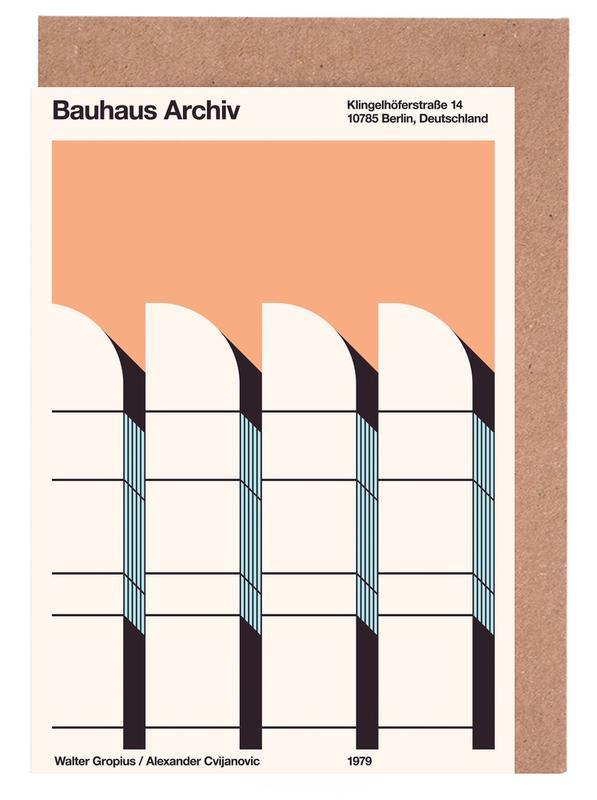 Berlin, Bauhaus Archiv Print Borders Greeting Card Set