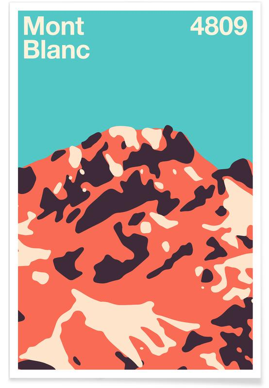 Montagnes, Mont Blanc affiche