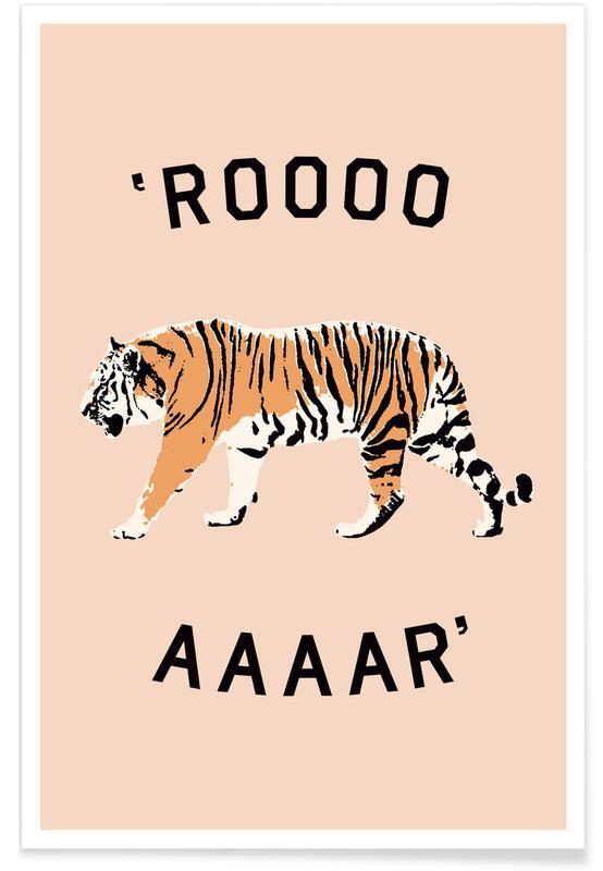 Kunst voor kinderen, Leeuwen, Roar poster