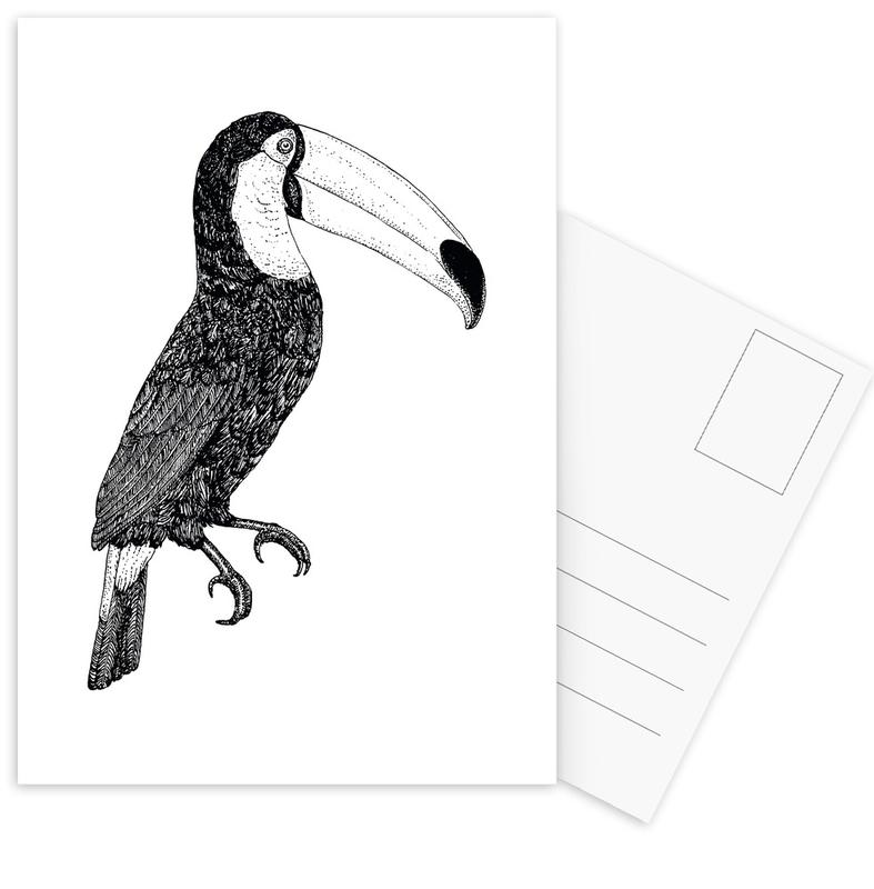 Black & White, Nursery & Art for Kids, Toucans, Toco Bw Postcard Set