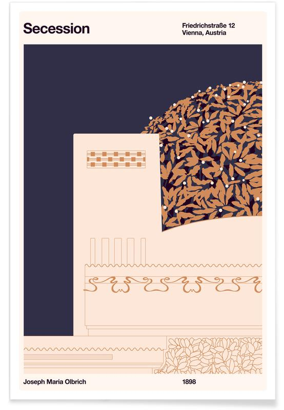 Architectonische details, Wenen, Secession poster