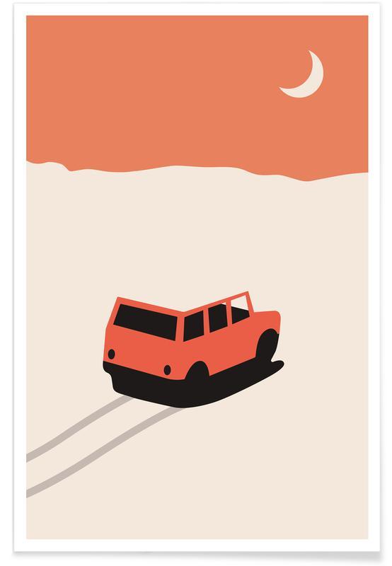 Autos, Car in Desert -Poster