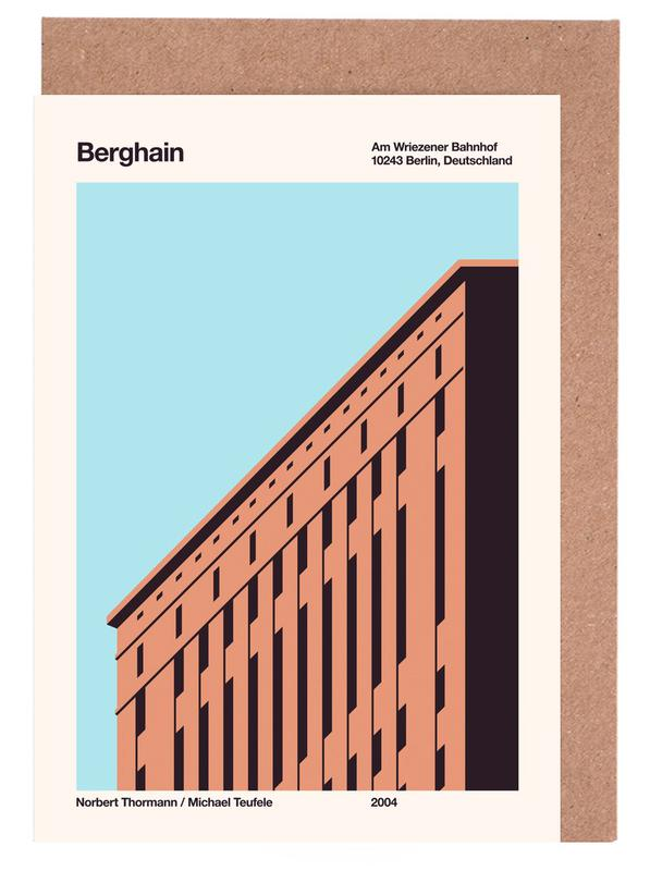 Berlin, Berghain Day Greeting Card Set