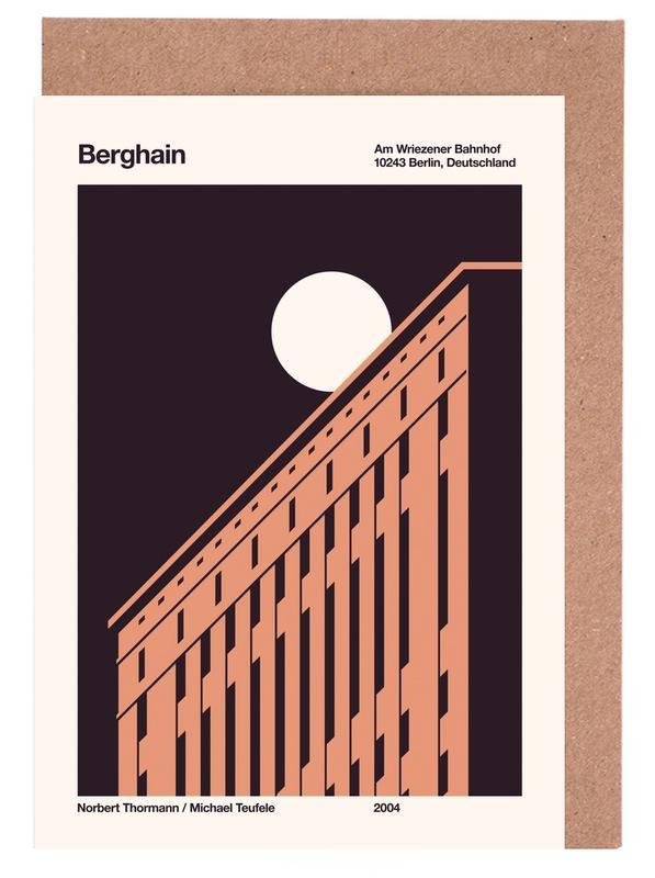 Berlin, Moon, Berghain Night Greeting Card Set