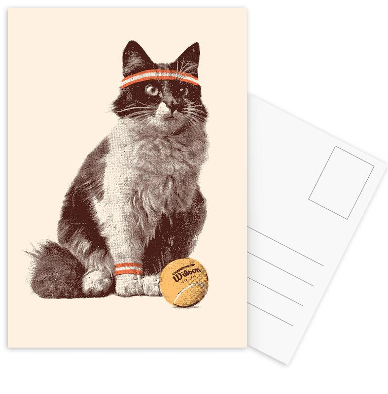 Chats, Tennis, Tennis Cat cartes postales