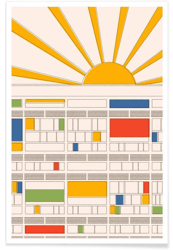 Détails architecturaux, La Cité Radieuse affiche