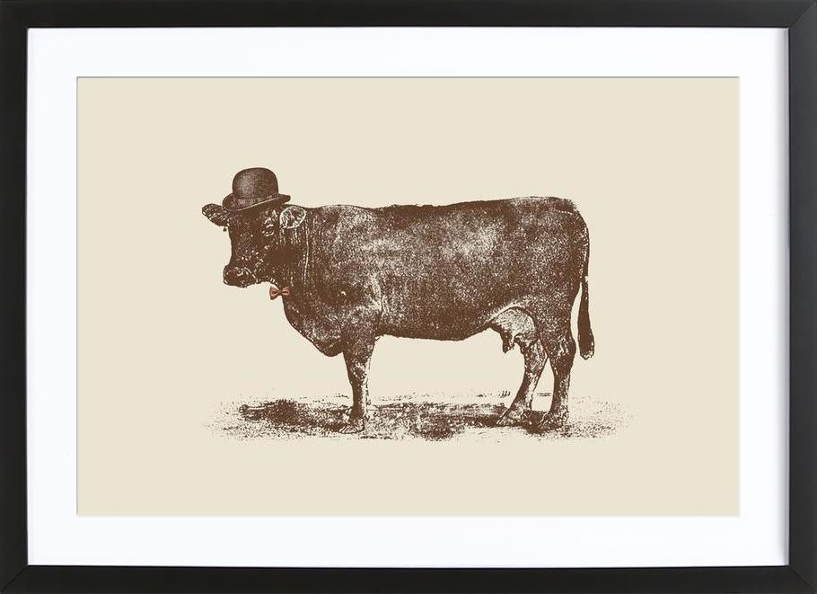 Cow Cow Nut Framed Print