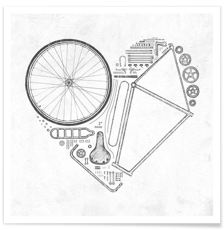 Vélos, Love bike affiche