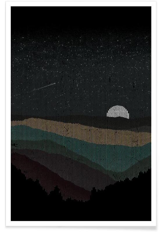 Montagnes, Moonrise 01 affiche