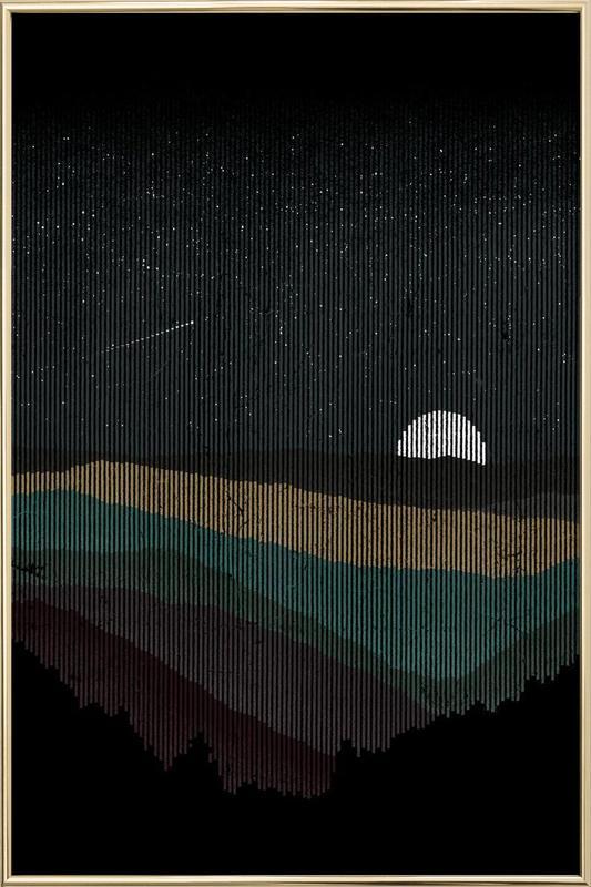 Moonrise 01 Poster in Aluminium Frame