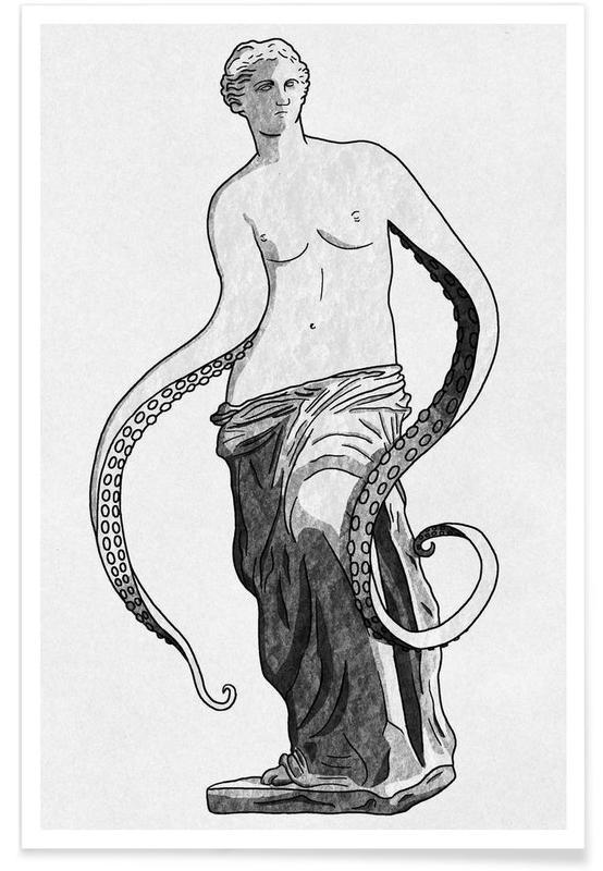 Océans, mers & lacs, Portraits, Venus - tentacles affiche