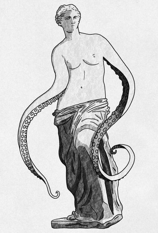 Venus - tentacles -Acrylglasbild