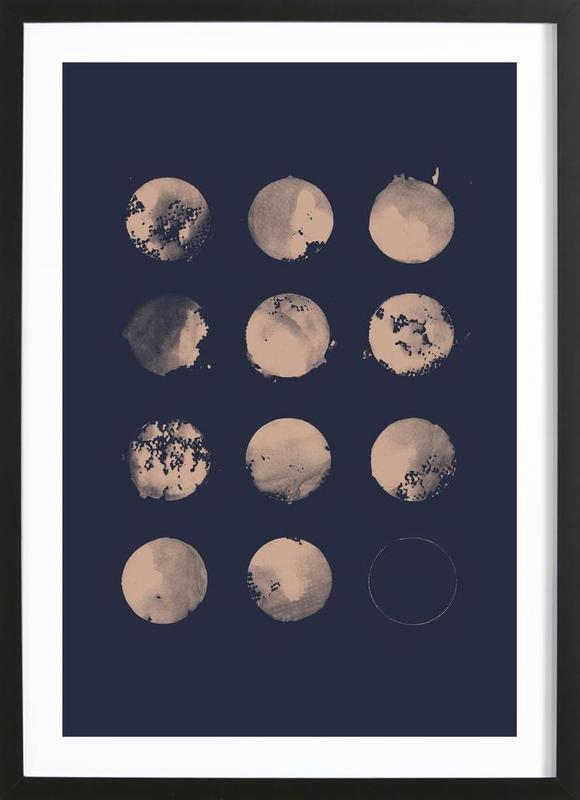 Twelve Moons -Bild mit Holzrahmen