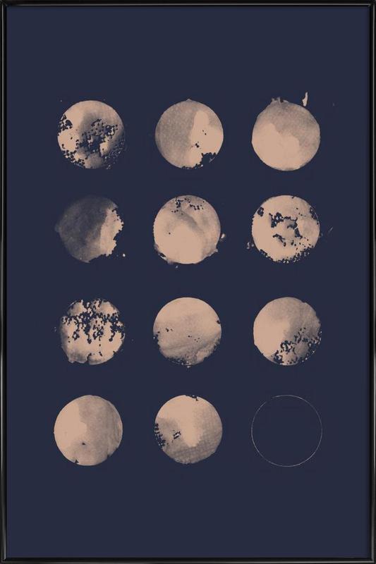 Twelve Moons -Bild mit Kunststoffrahmen