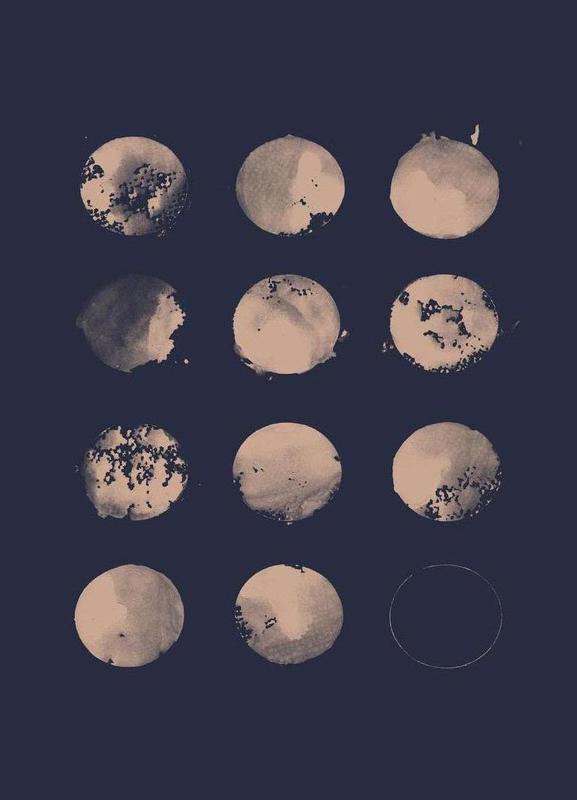 Twelve Moons canvas doek