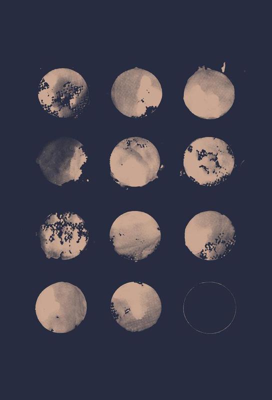 Twelve Moons -Acrylglasbild
