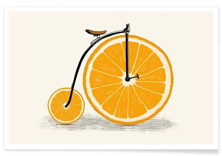 Orange Wheels Poster