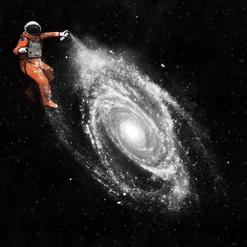 Space Art -Leinwandbild