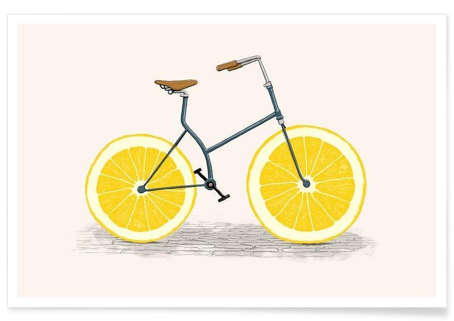 Citrons, Vélos, Lemonade affiche