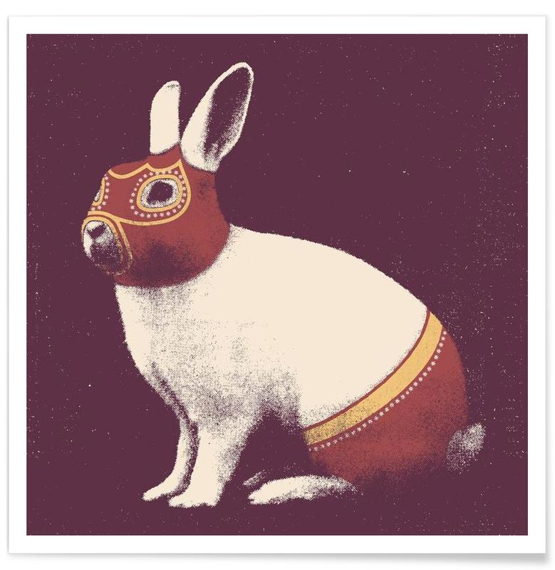 Lapin Catcheur (Rabbit Wrestler) -Poster