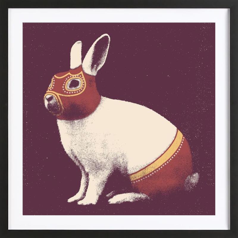 Lapin Catcheur (Rabbit Wrestler) ingelijste print