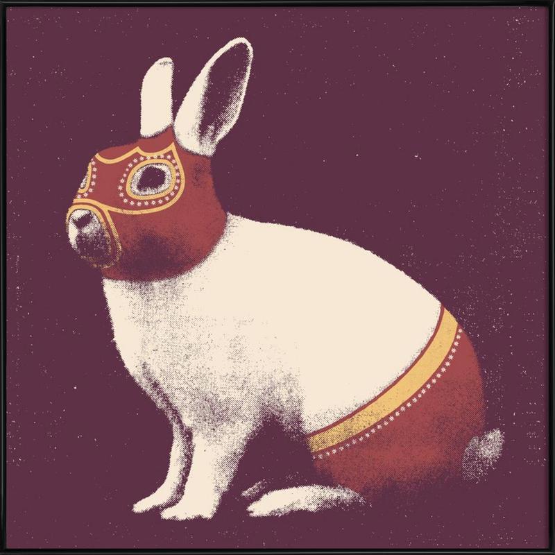 Lapin Catcheur (Rabbit Wrestler) Framed Poster