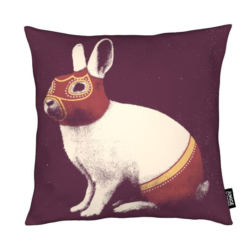 Lapins, Lapin Catcheur (Rabbit Wrestler) coussin