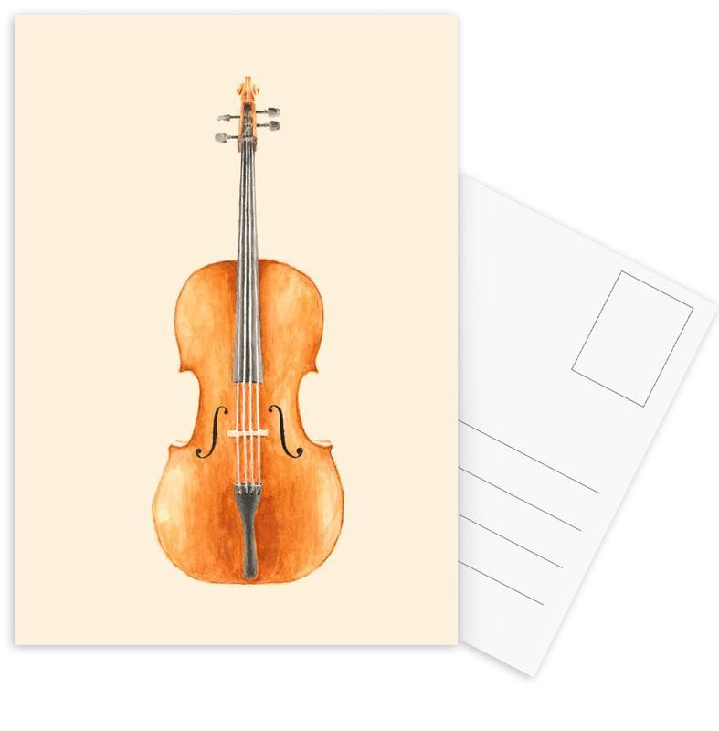 Klassiek, Cello ansichtkaartenset