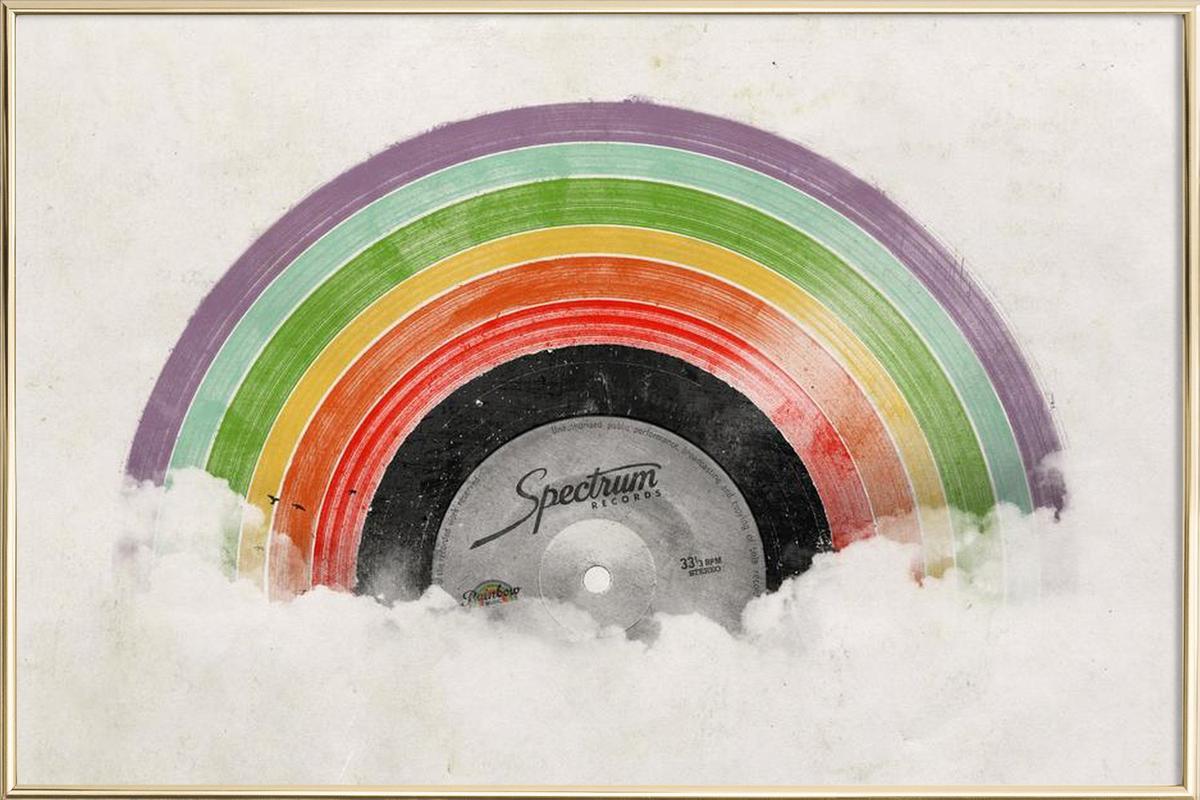 Rainbow Classics Poster in Aluminium Frame