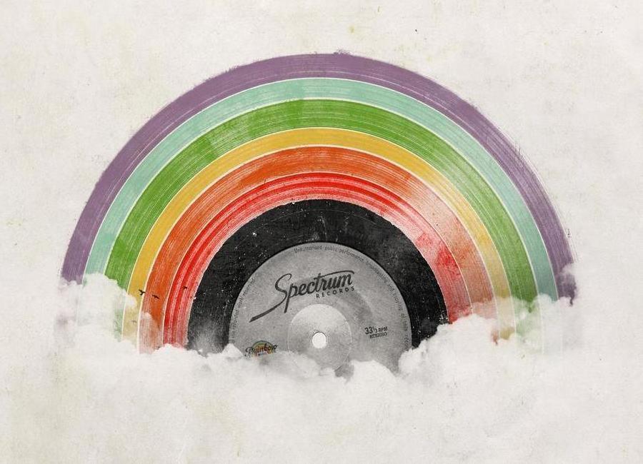 Rainbow Classics canvas doek