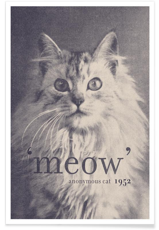 Humour, Noir & blanc, Chats, Famous Quote - Cat affiche