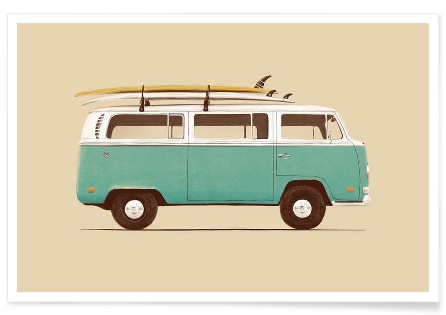 Cars, Blue Van Poster