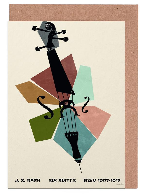 Bach - Cello Suites Greeting Card Set