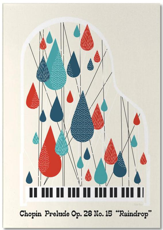 Chopin - Raindrop Prelude by Prelude Posters -Notizblock