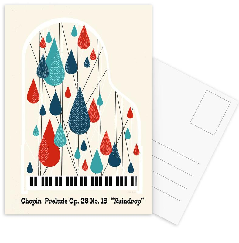 Chopin - Raindrop Prelude by Prelude Posters Postcard Set