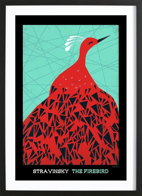 Stravinsky - Firebird -Bild mit Holzrahmen