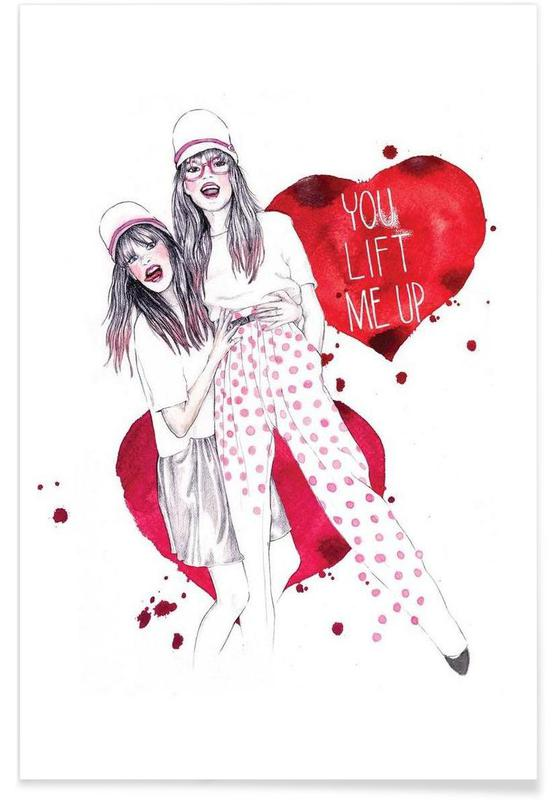 You lift me up poster
