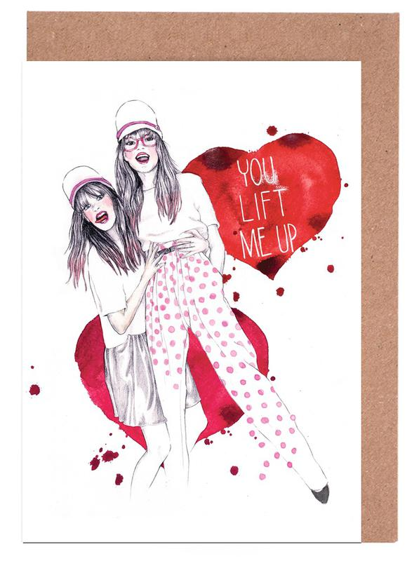 You lift me up Greeting Card Set