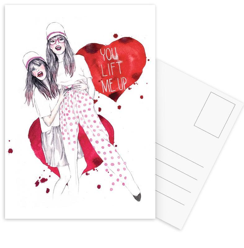 Illustrations de mode, You lift me up cartes postales