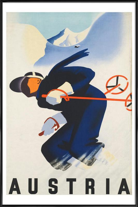 austria2 ingelijste poster