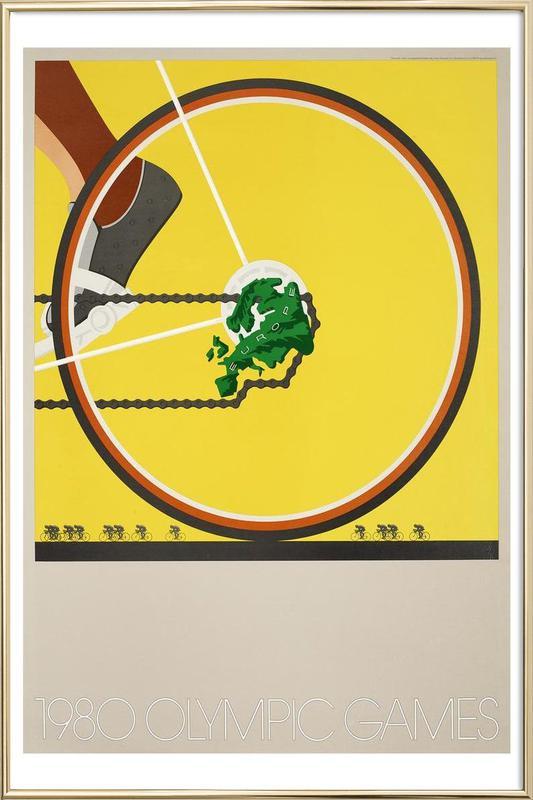 bike1 Poster in Aluminium Frame