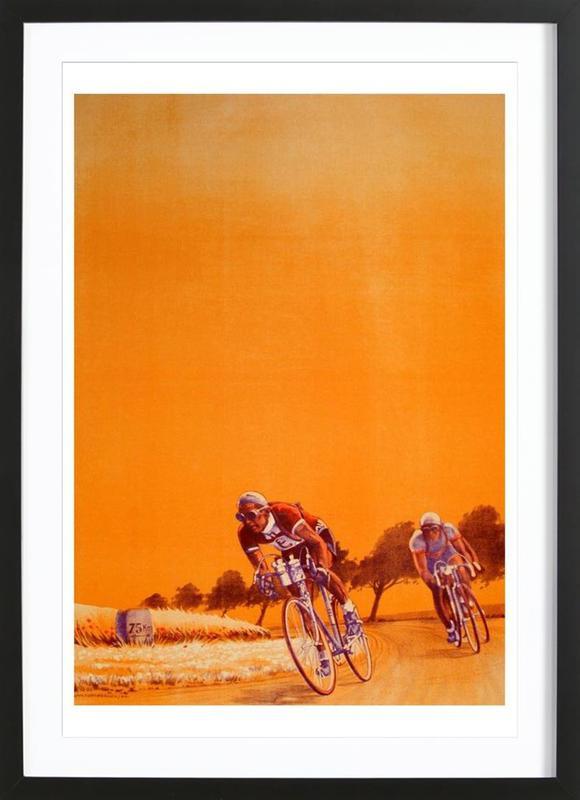 bike2 -Bild mit Holzrahmen
