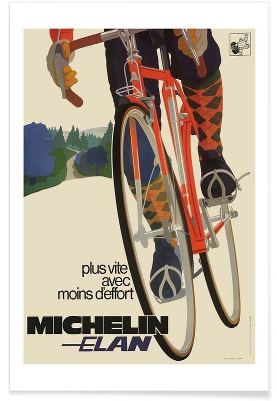 Cyclisme, Vintage, Vélos, bike7 affiche
