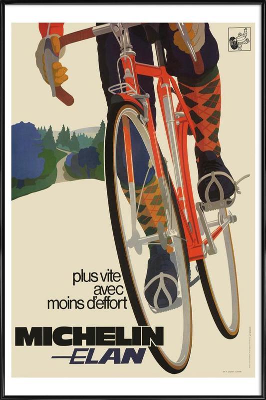 bike7 ingelijste poster