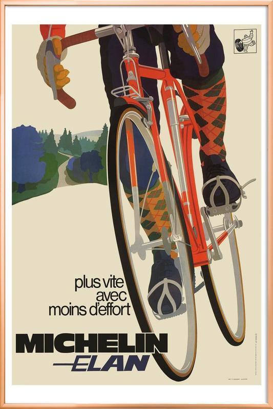 bike7 -Poster im Alurahmen