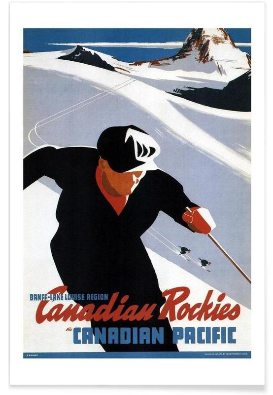 Ski & snowboard, canada3 affiche