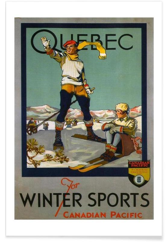 Voyages, Ski & snowboard, Vintage, canada4 affiche