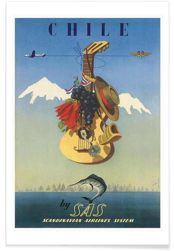 Voyages, chile affiche