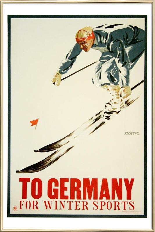 germany1 Poster in Aluminium Frame