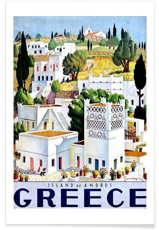 Voyages, Vintage, greece1 affiche